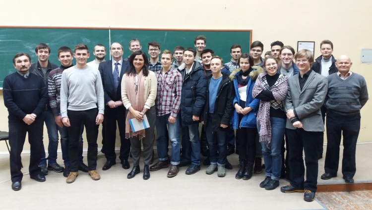 Dr. Marta Serrano Garcia, Euratom Expert on Nuclear Energy and Nuclear Materials, gave a presentation to our students today