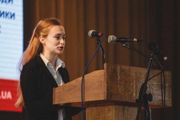 Виступ студентки 4 курсу Орини Іваштенко