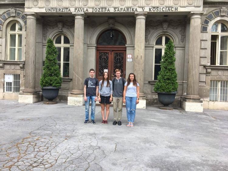 Команда переможець у Всеукраїнському турнірі фізиків відвідала Університет імені Павла-Йозефа Шафарика